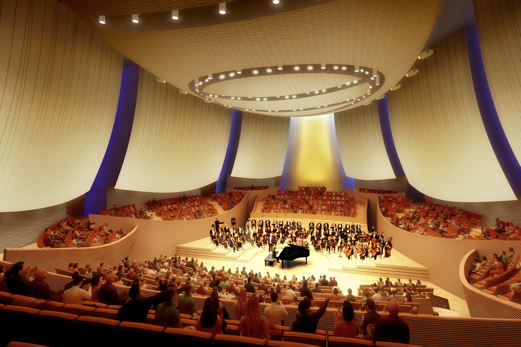<span>Residential Projects</span>Bing Concert Hall – Composite Acoustical Panels